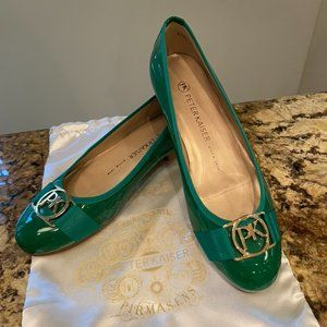 Peter Kaiser New Green Patent Leather Flats